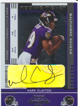 2005 Playoff Contenders #154 Mark Clayton AU/494* RC