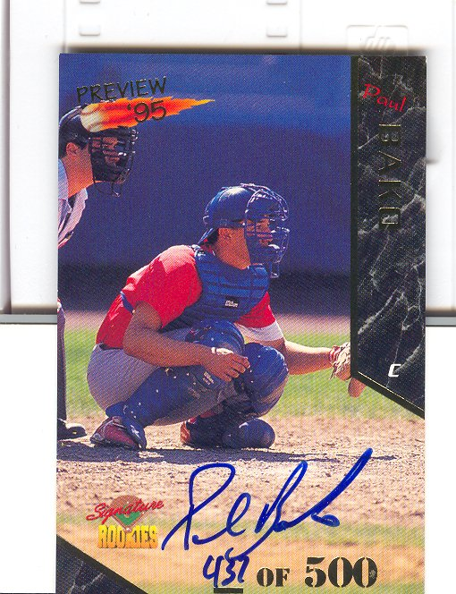 1995 Signature Rookies Old Judge Preview '95 Signatures #4 Paul Bako