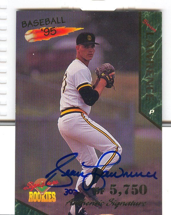 1995 Signature Rookies Signatures #30 Sean Lawrence
