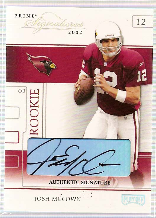2002 Playoff Prime Signatures Autographs #103 Josh McCown/95