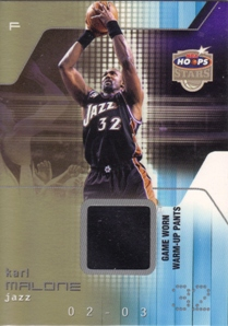 2002-03 Hoops Stars Superstars Game-Used #KM Karl Malone Pants
