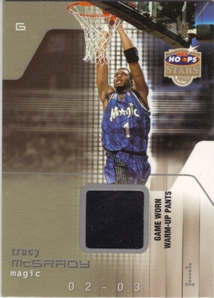 2002-03 Hoops Stars Superstars Game-Used #TM Tracy McGrady Pants