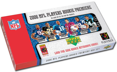 2006 Upper Deck Authenticated UDA NFL Football Rookie Premiere Factory Sealed Box Set With Reggie Bush , Vince Young , Matt Leinart & Many Others & Possible Randomly Inserted Autographs