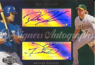 2006 Topps Co-Signers Dual Autographs #CS48 Dan Johnson/Prince Fielder F/100 *