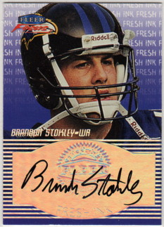 1999 Fleer Focus Fresh Ink #33 Brandon Stokley