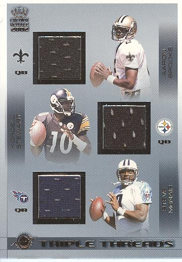 2002 Crown Royale Triple Threads Jerseys #28 Aaron Brooks/Kordell Stewart/Steve McNair/1217