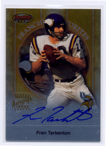 1999 Bowman's Best Franchise Favorites Autographs #FA5 Fran Tarkenton