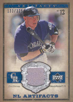 2006 Artifacts AL/NL Artifacts Blue #CLN Clint Barmes Jsy/325