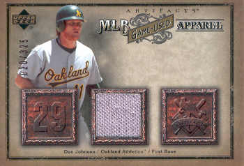 2006 Artifacts MLB Game-Used Apparel #DA Dan Johnson Jsy/325
