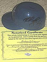 Norfolk Tides sundae mini helmet autographed ( autograph signed ) by RUBEN GOTAY ( Kansas City Royals, New York Mets )