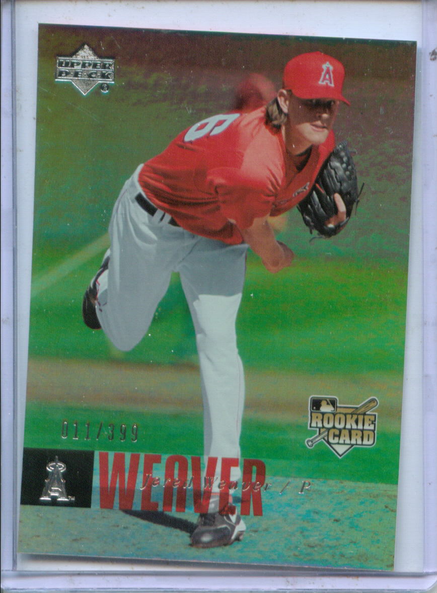 2006 Upper Deck Rookie Foil Silver #1000 Jered Weaver