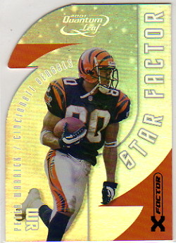 2001 Quantum Leaf Star Factor X-Factor #SF40 Peter Warrick