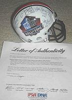 Hall of Fame authentic mini helmet signed by Class of '02 - Dave Casper, Dan Hampton, Jim Kelly, John Stallworth PSA/DNA