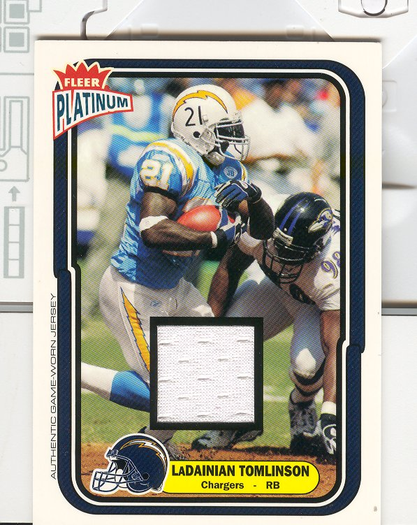 2004 Fleer Platinum Jerseys #102 LaDainian Tomlinson/765