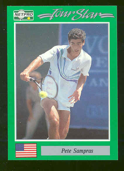 1991 NETPRO Tour Star #7 Pete Sampras True Rookie Card RARE