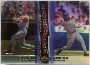 1999 Finest Split Screen Single Refractors #SS1A Mark McGwire REF/Sammy Sosa