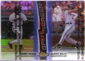 1999 Finest Split Screen #SS4 B.Bonds/A.Belle