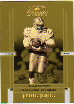 2005 Donruss Classics Timeless Tributes Gold #113 Deion Sanders