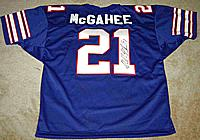 WILLIS McGAHEE autographed ( signed autograph) authentic jersey (James Spence Authentication)