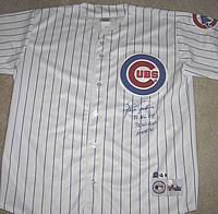 Hall of Fame pitcher FERGUSON JENKINS autographed ( signed autograph ) authentic Chicago Cubs jersey ( GAI )