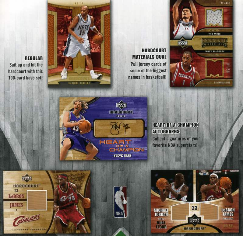 2006-07 Upper Deck Hardcourt Basketball Hobby Box (1 UD BLACK Redemption Card Per Box + 1 Jordan or Lebron Floor Card Per Box)