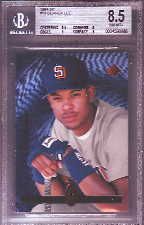 1994 SP #10 Derrek Lee RC ROOKIE BGS-8.5 NM/MT+
