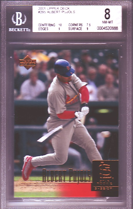2001 Upper Deck Albert Pujols SR #295 RC ROOKIE NM-MT BGS-8.0 front image