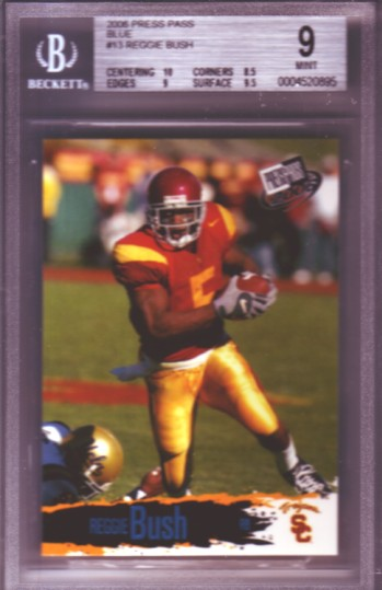 2006 Press Pass Blue #B13 Reggie Bush RC ROOKIE BGS-9.0 MINT