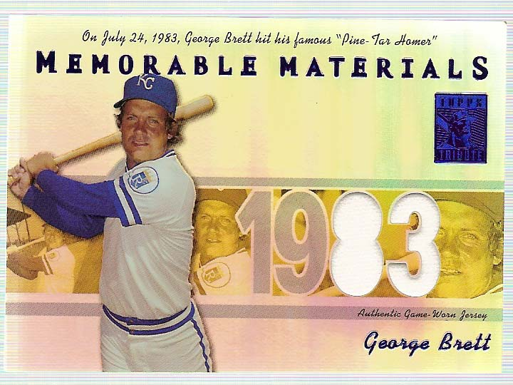 2002 Topps Tribute Memorable Materials Season #GB George Brett Jsy/83
