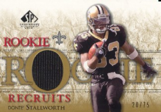 2002 SP Legendary Cuts Rookie Recruits Jerseys Gold #RRDS Donte Stallworth