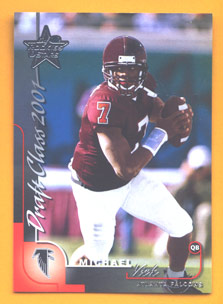 2000 Leaf Rookies and Stars #301 Michael Vick XRC front image