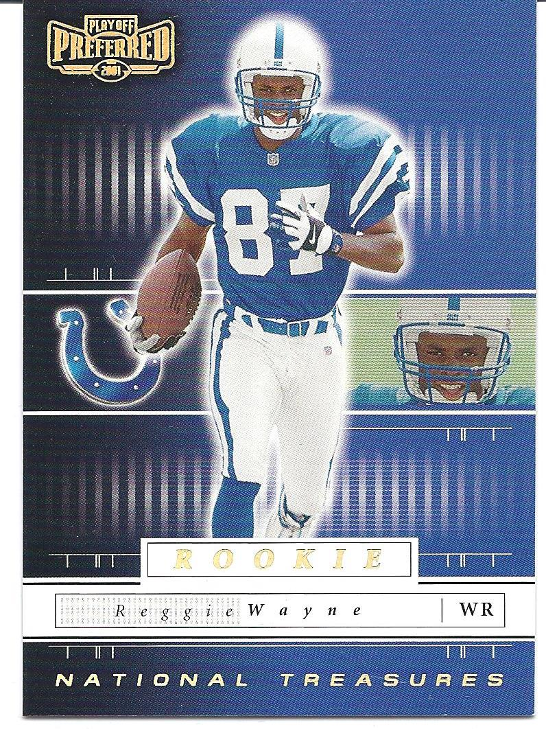 2001 Playoff Preferred National Treasures Gold #135 Reggie Wayne front image