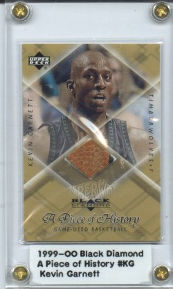 1999-00 Black Diamond A Piece of History #KG Kevin Garnett H