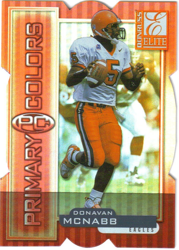1999 Donruss Elite Primary Colors Die Cuts Red #10 Donovan McNabb