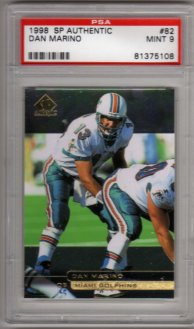 1998 SP AUTHENTIC #82 Dan Marino PSA MINT 9 Miami DOLPHINS! BEAUTIFUL!