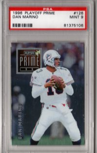 1996 Playoff Prime #126 Dan Marino PSA MINT 9 Miami DOLPHINS QB! Silver! BEAUTIFUL!