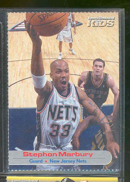 2001 Sports Illustrated for Kids #33 Stephon Marbury Nets RARE