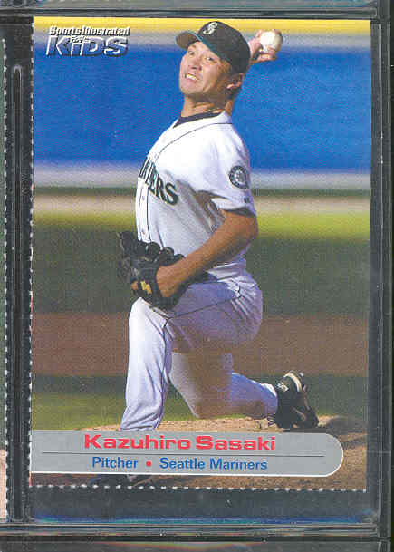 2001 Sports Illustrated for Kids #30 Kazuhiro Sasaki Mariners Rookie RARE