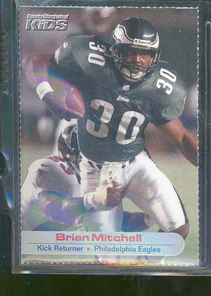 2001 Sports Illustrated for Kids #32 Brian Mitchell Eagles RARE