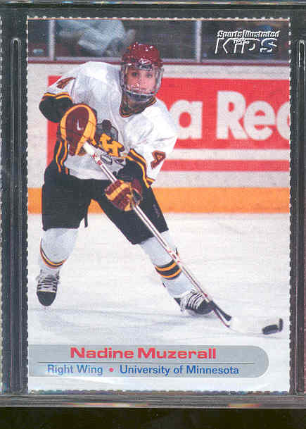 2001 Sports Illustrated for Kids #31 Nadine Muzerall University of Minnesota Rookie RARE