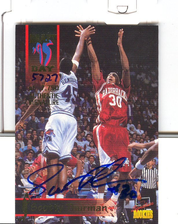 1995 Signature Rookies Draft Day Signatures #25 Scotty Thurman