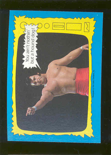 1987 Topps WWF #73 The Super Stars Speaks Honky Tonk Man Wrestling Card