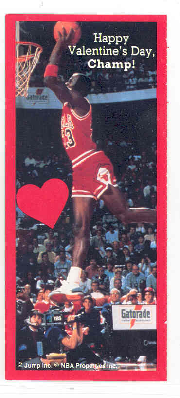 1991 Jump Inc. Michael Jordan Bulls Valentines Card #Happy Valentine's Day