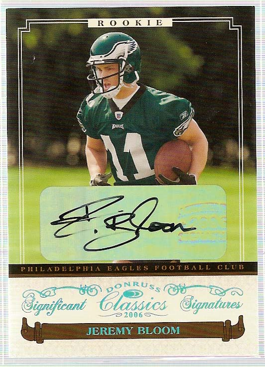 2006 Donruss Classics Significant Signatures Platinum #136 Jeremy Bloom
