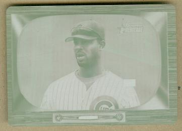2004 Bowman Heritage Printing Plates Magenta #185 Derrek Lee