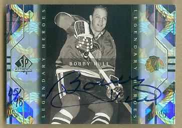 2000-01 SP Authentic Buy Back Autographs #12 Bo.Hull 99SPALH/98