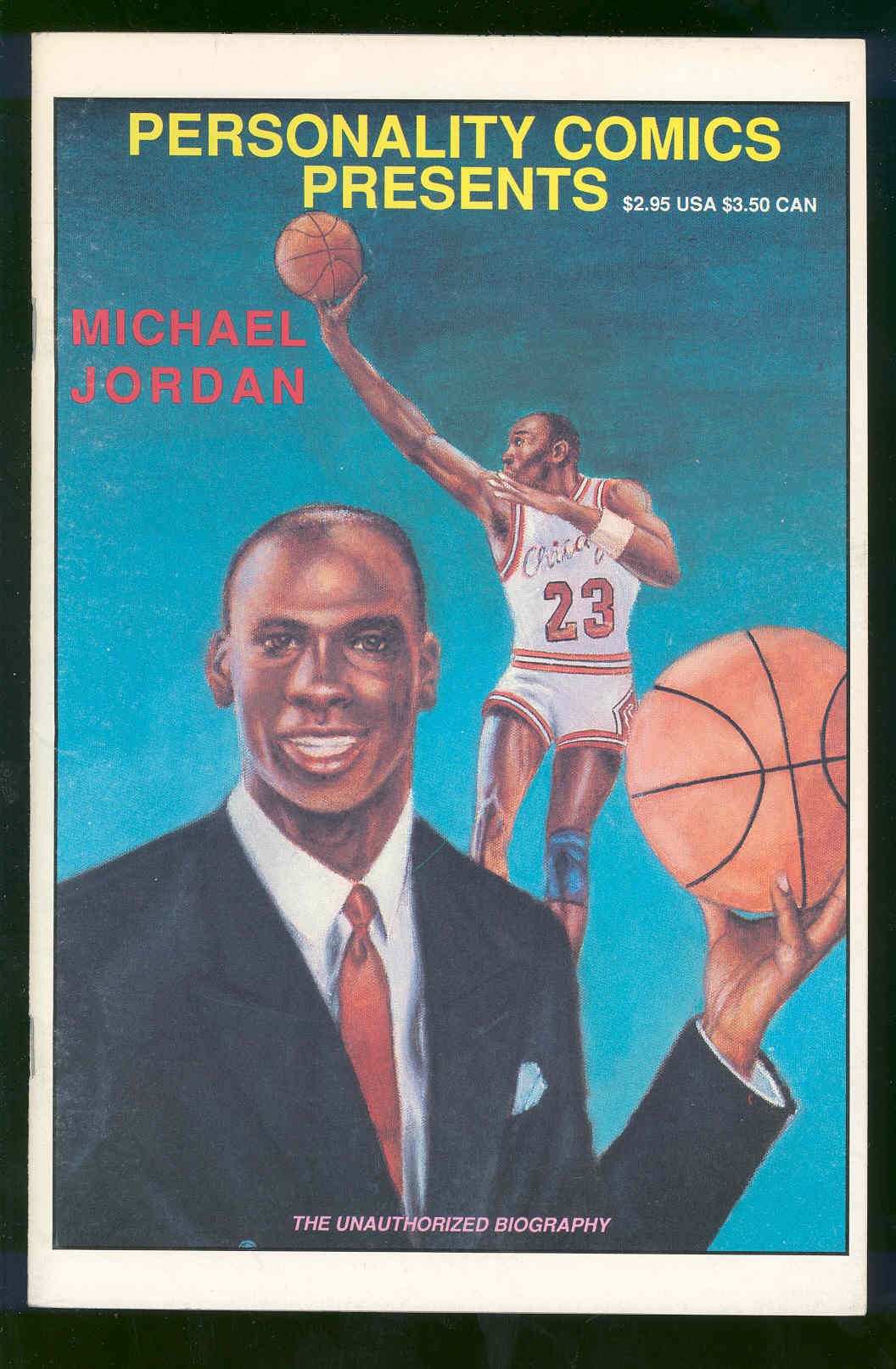 1991 Personality Comics Michael Jordan Bulls Comic Biography RARE