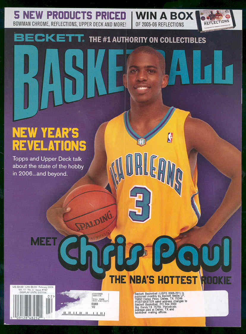 Low Shipping Beckett Basketball #187 Febuary 2006 Chris Paul Rookie Cover