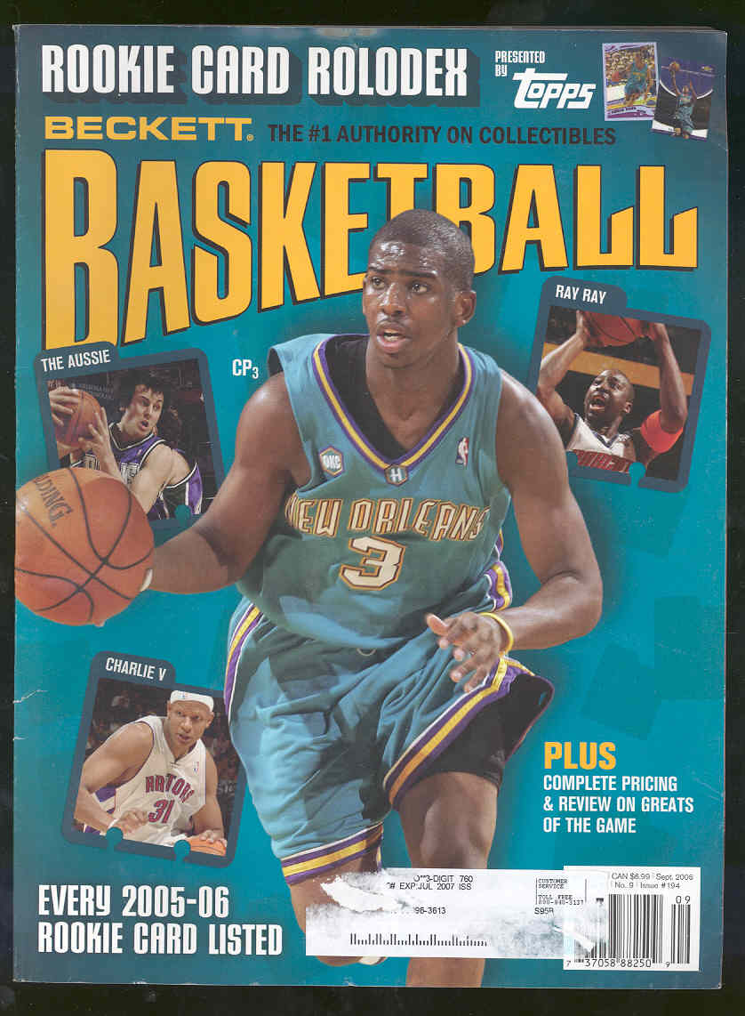 Low Shipping Beckett Basketball Magazine #194 September 2006 Chris Paul Cover