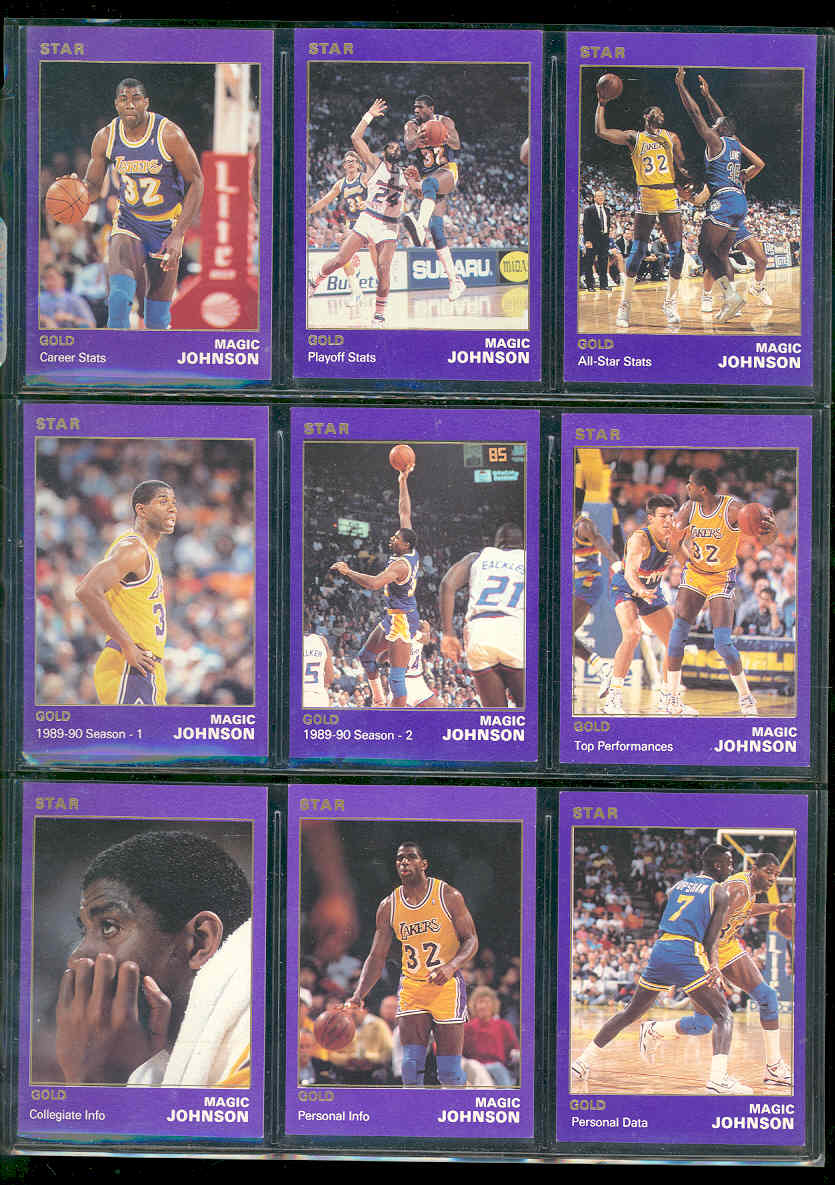 1990 Star Basketball Magic Johnson Star Set Gold 1 of 1500 sets printed of this player